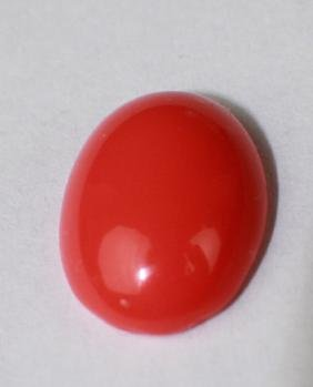 A RED CORAL RING FACE, 5/8""