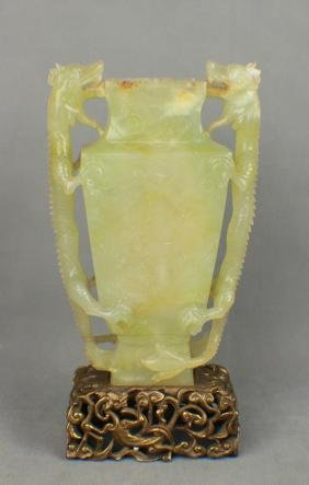 A Jade Vase with Two Dragons