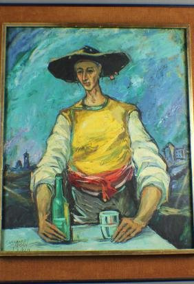 Oil Painting: A Drank Worker, by Gueerrero Molagon