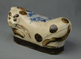 A Porcelain Pillow in Cat Shape from Ancient China, 10