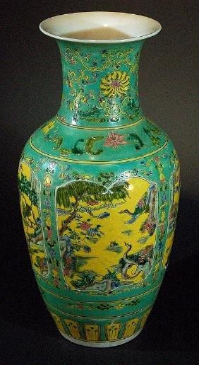 Chinese Famille Verte Vase