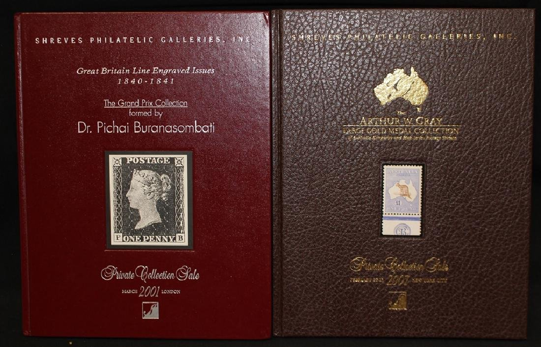 Pair of Shreves Philatelic Galleries Hardbound Auction