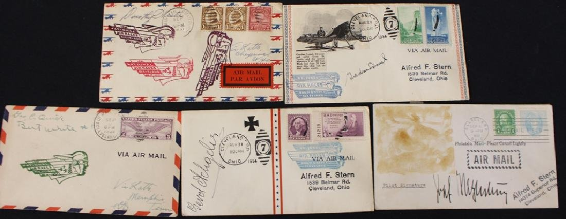 Cleveland Air Races Covers Signed by Pliots Plus