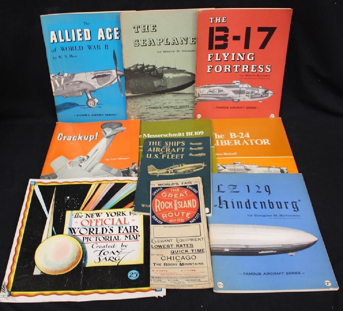 Useful Paper Ephemera Lot Aircraft Zeppelin Material