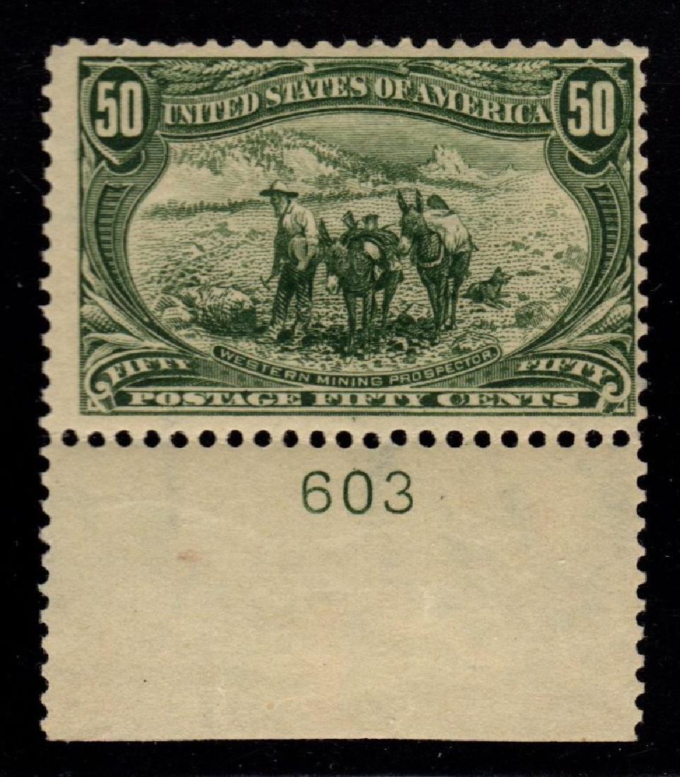 United States Scott 291 Fine OG LH p#single SCV.$600