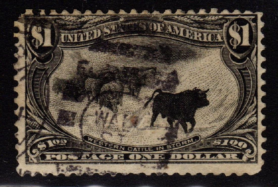 United States Scott 292 Fine Used $1 Cattle in the