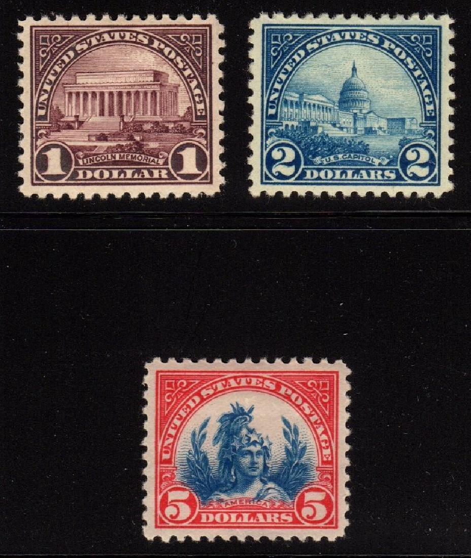 United States Scott 571-573 VF OG LH SCV.$197+