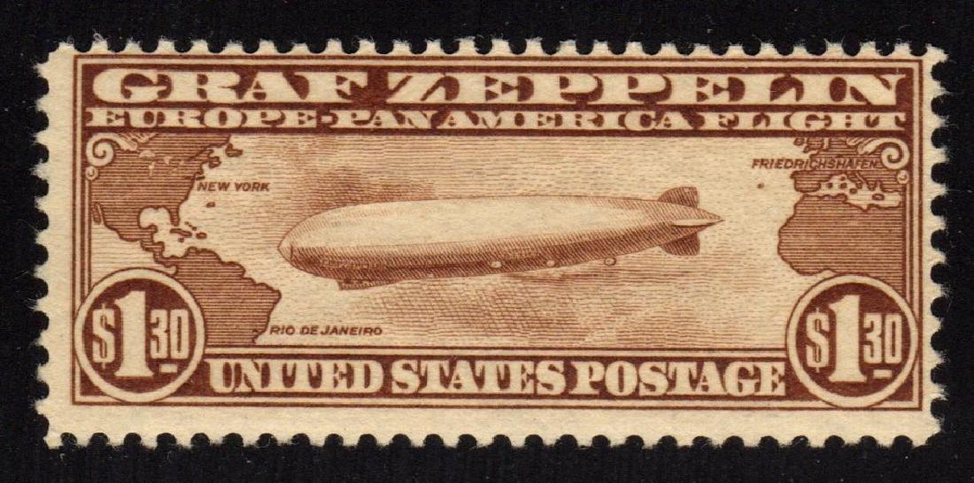 United States Scott C14 Fine OG LH Graf Zeppelin