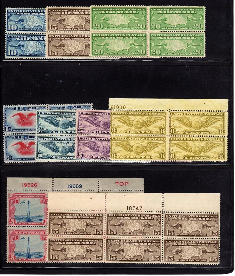 United States NH Airmail Selection Single thru Plate