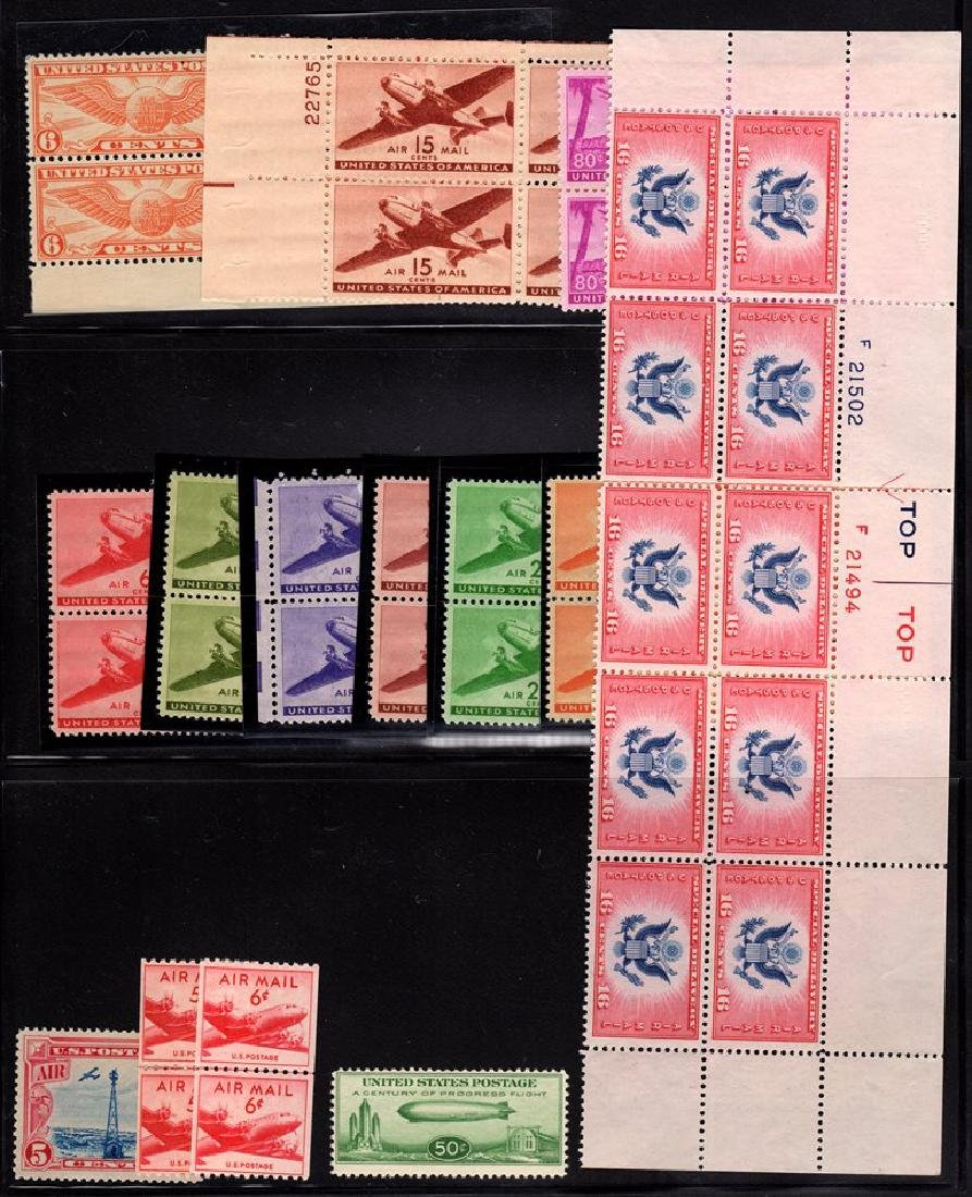 United States NH Airmail Selection Single thru Plate - 2