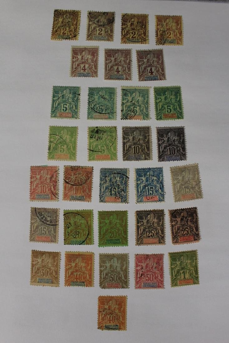 Guadeloupe Unused Used Stamp Collection - 2