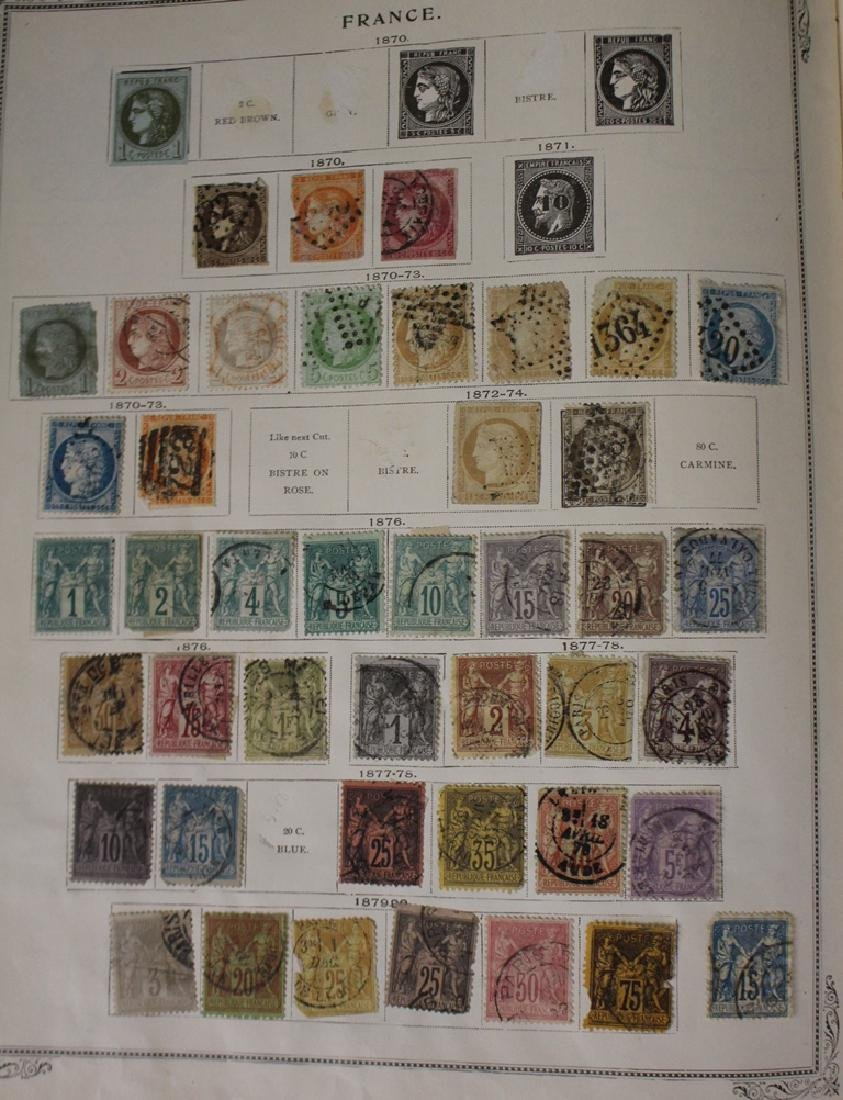 U.S. and Worldwide Stamp Collection in 19th c. Album - 2