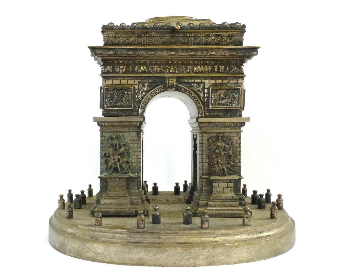 French Bronze Grand Tour Model of the Arc de Triomphe