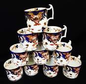 Royal Crown Derby China 1784-1820 (10) Demitasse Cups