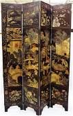 (8) Panel Oriental Theme Coromandel Laquer Style