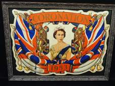 Queen Elizabeth II Coronation Poster 1953 Framed