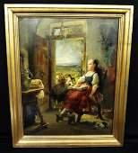 Carl Herpfer German 18361897 Oil on Board Girl