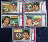 (8)1956 Topps Baseball PSA 7 Graded Cards