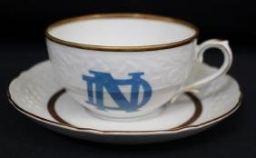 Notre Dame University German Porcelain Cup & Saucer