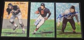 (6) Chicago Bear Autographed NFL Hall of Fame Goal Line