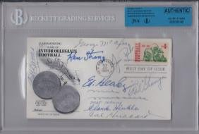 1969 Football Deceased Player Multi-Signed First Day
