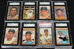 (22)1962 Topps Baseball SGC & PSA Graded Cards