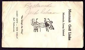Jackie Robinson Signed Montauk Golf Links Scorecard