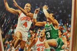 Original Gary Thomas Cleveland Cavs Ron Harper Acrylic