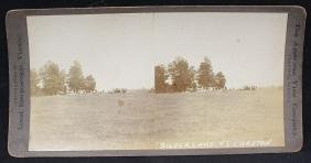Early Baseball Game Steroescopic View Silver Lake vs.