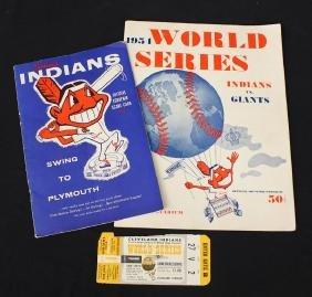 1954 World Series Program & Ticket Plus