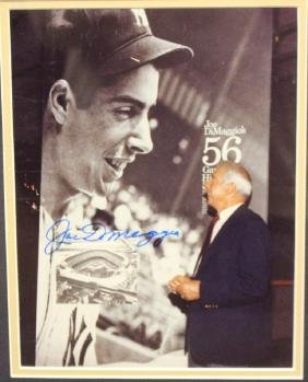 Joe DiMaggio Autographed 8x10 Color Photo