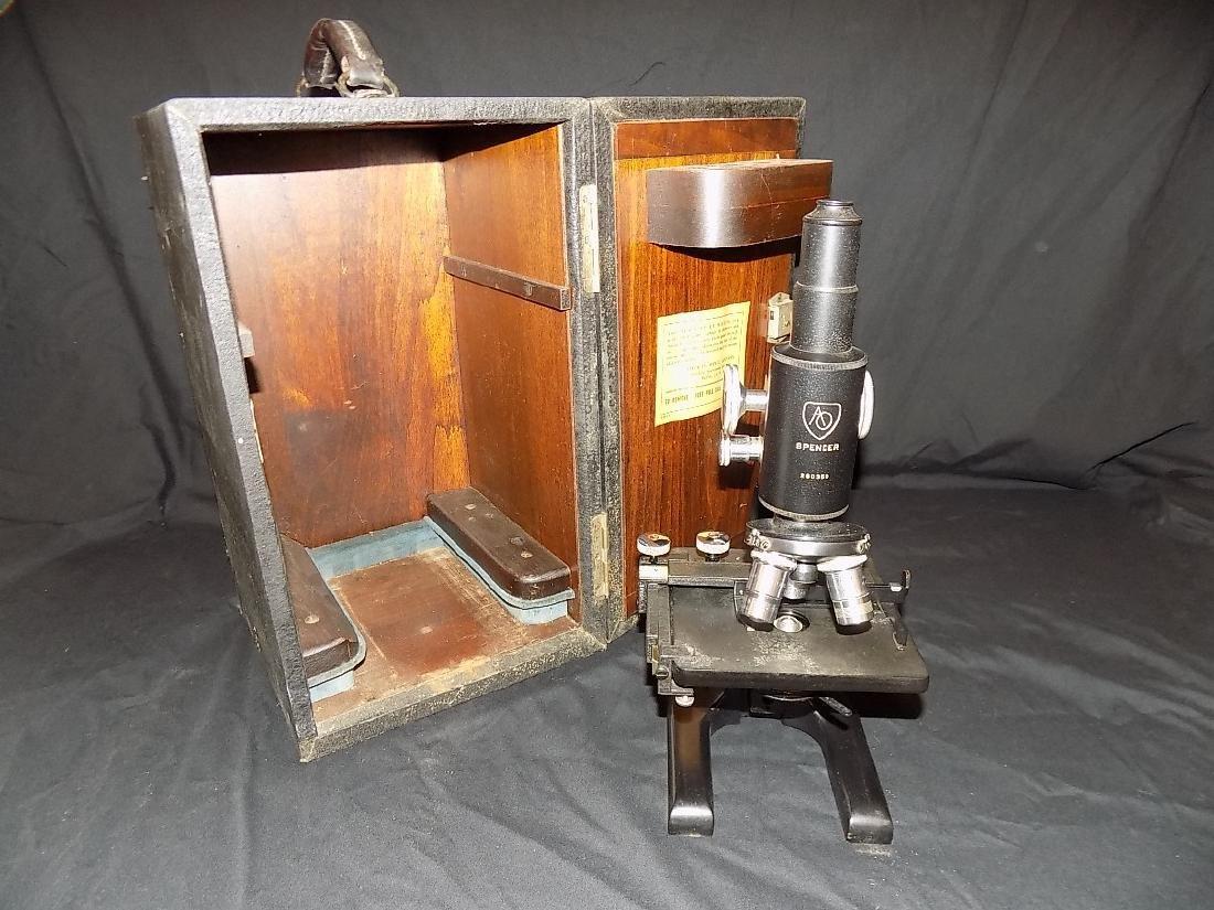 Antique Spencer Jug Handle Microscope Circa 1930 3