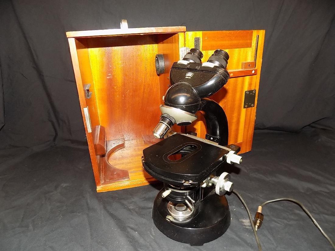 Zeiss Winkel Binocular Microscope  3 Objective Turret