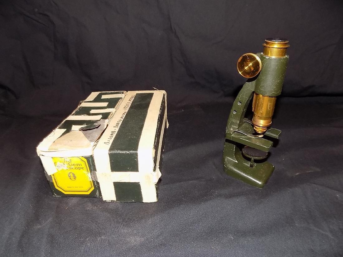 The Little Gem Microscope w/ Original Box 1920-30s