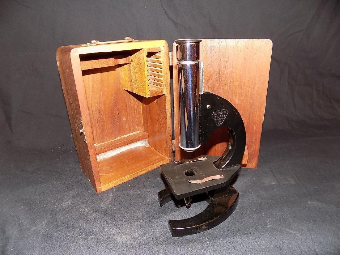 Bausch & Lomb Jug Handle Style Vintage Mircoscope