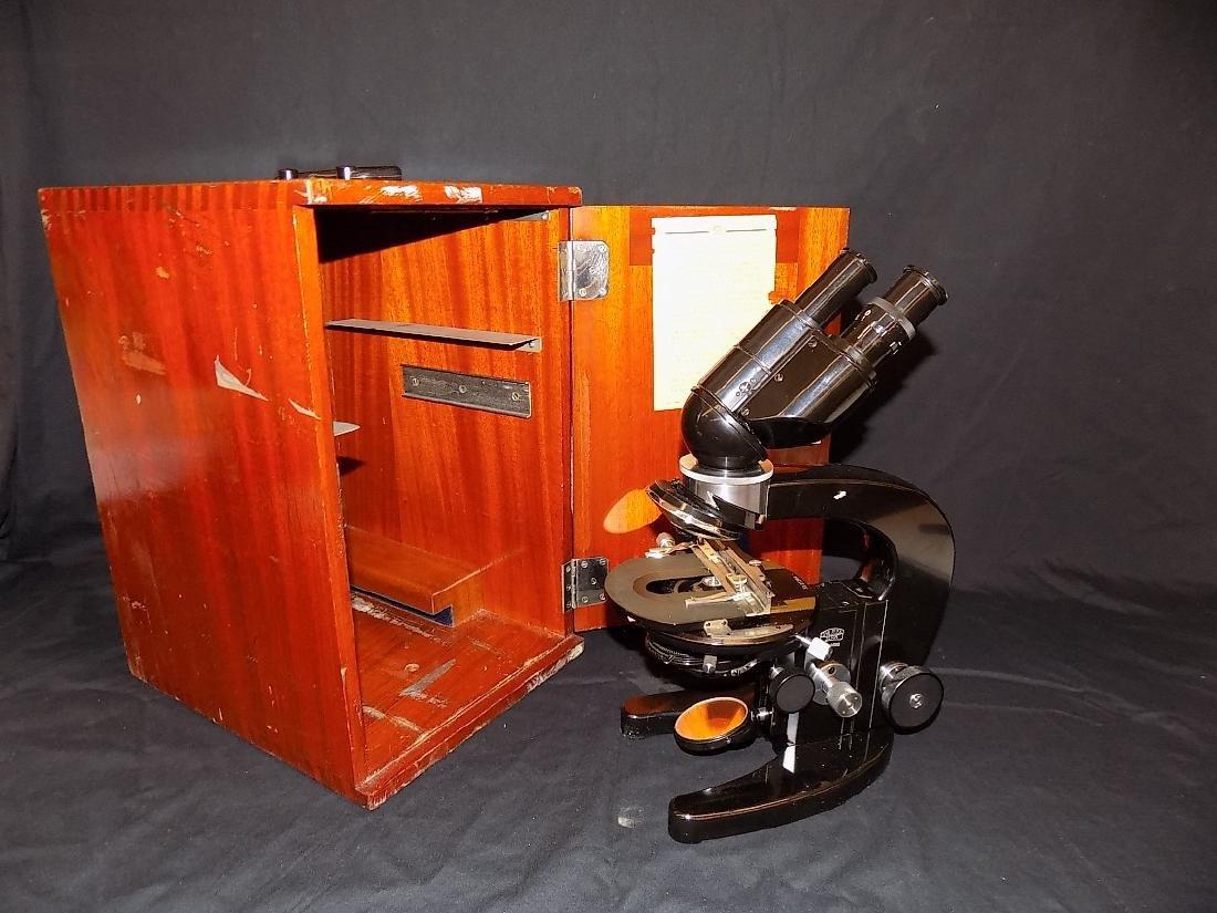 Classic CARL ZEISS JENA Binocular Microscope With