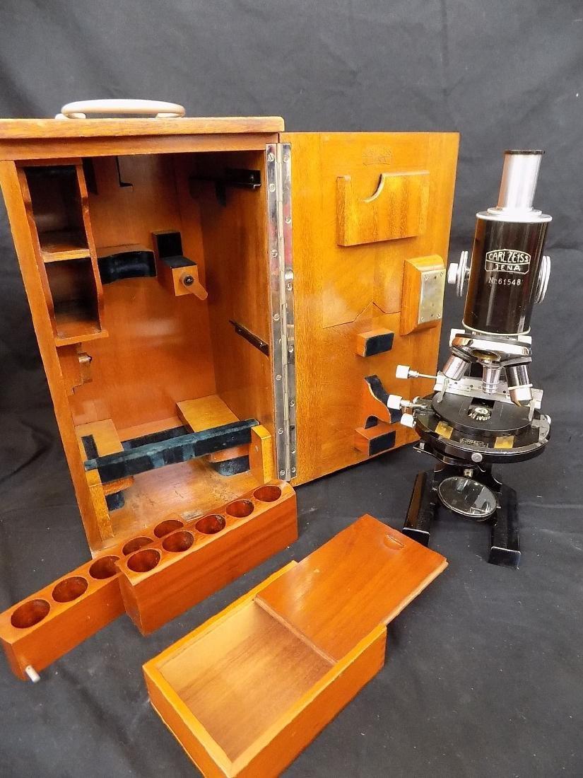 Antique 1920-1930's Carl Zeiss Jena Microscope Germany
