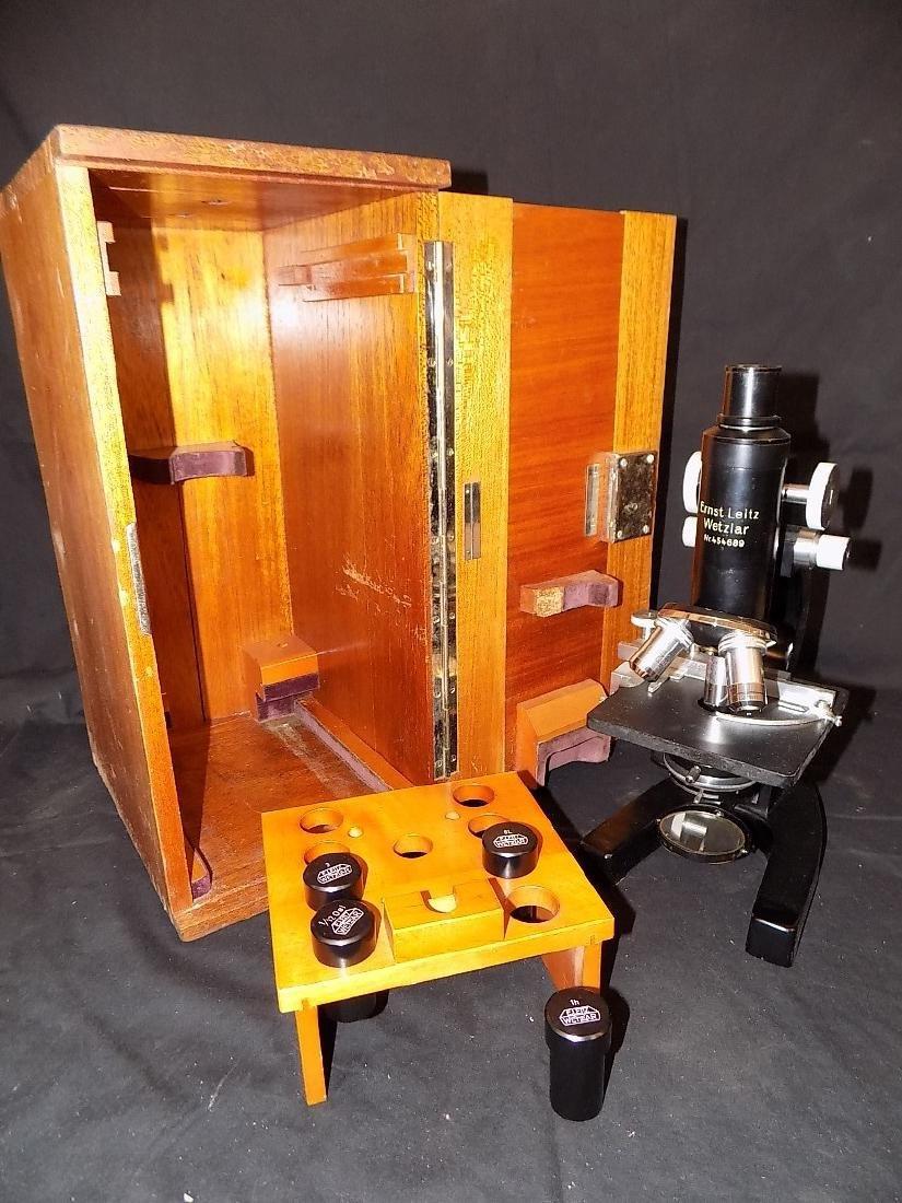 Ernst Leitz Wetzlar 3 Objective Microscope 1930s