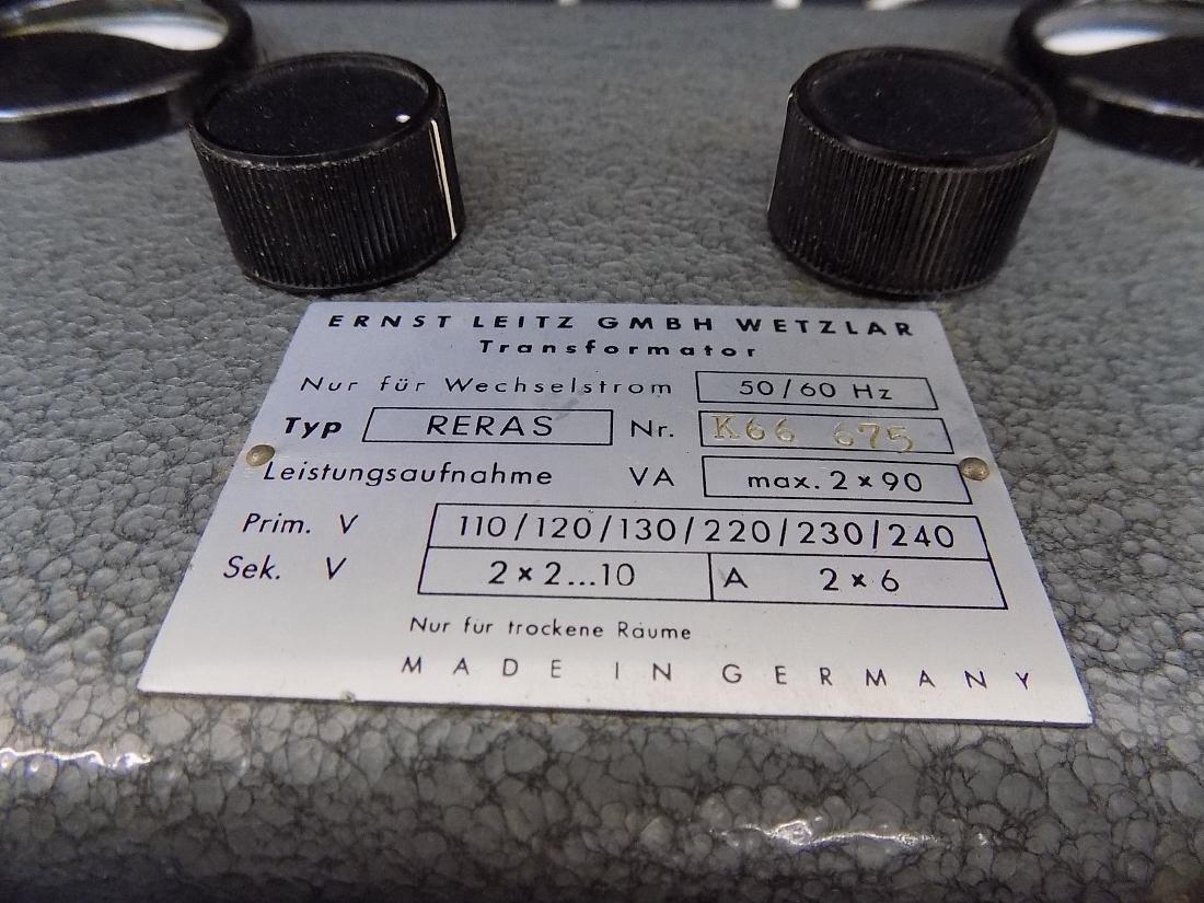 Leitz GMBH Wetzlar RERAS Dual Transformer / Power - 2