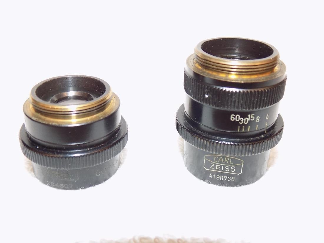 (2) Carl Zeiss Microscope Objectives 40mm & 63mm 1:4,5
