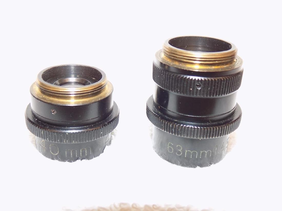 (2) Carl Zeiss Microscope Objectives 40mm & 63mm 1:4,5 - 2