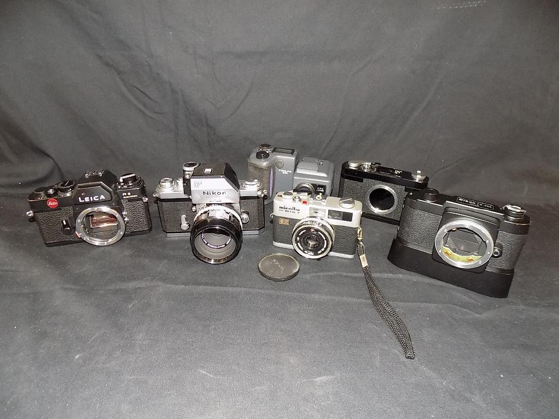 Nikon/Leica Vinatge Camera Lot of (6)  FX-35A, M-35s,