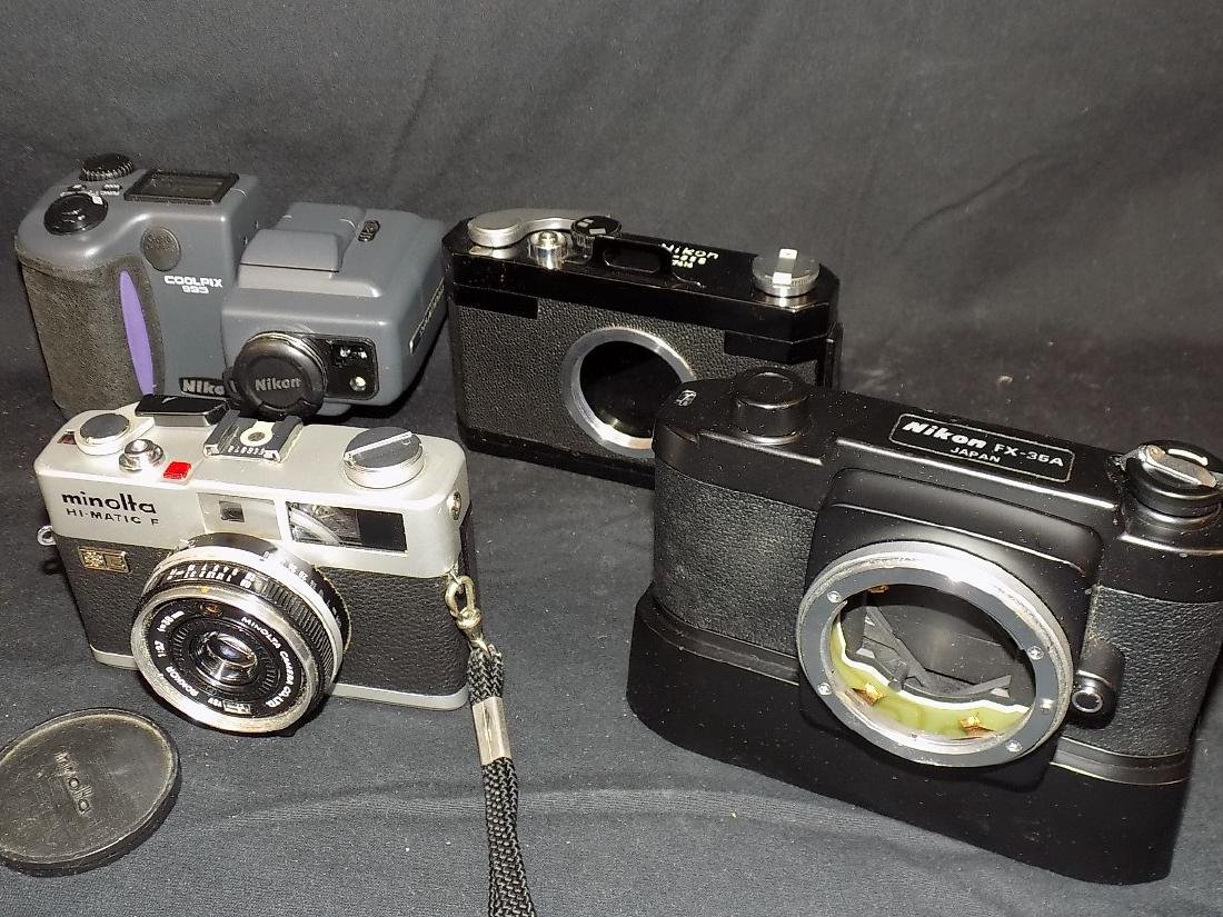 Nikon/Leica Vinatge Camera Lot of (6)  FX-35A, M-35s, - 5