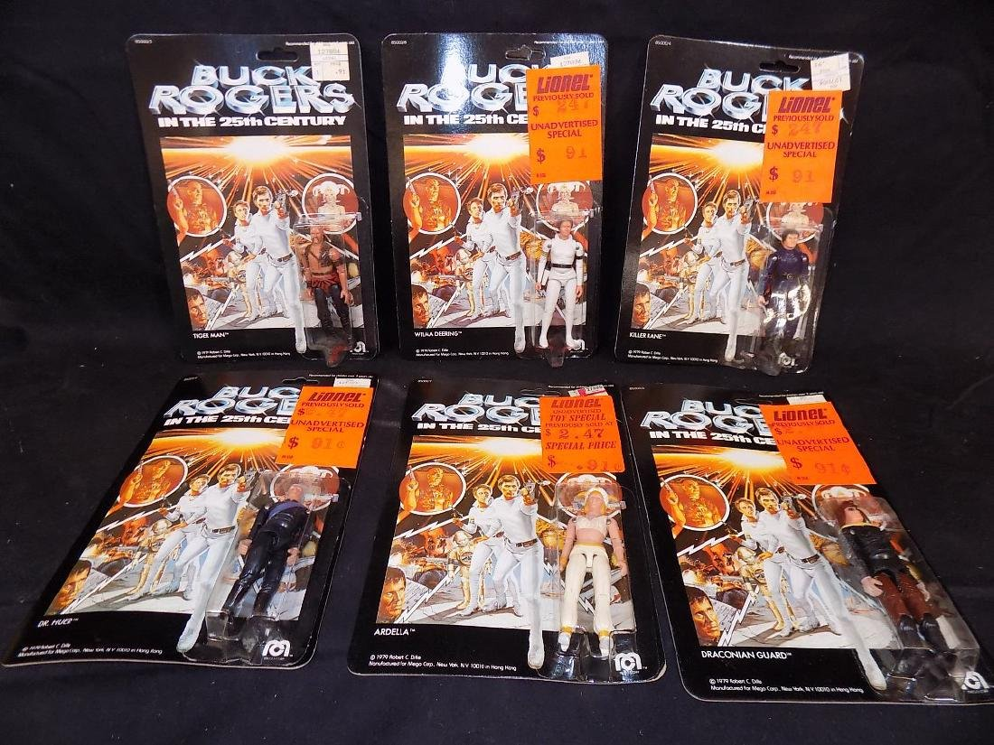 (6) Original 1979 Mego Buck Rogers Figures on Card