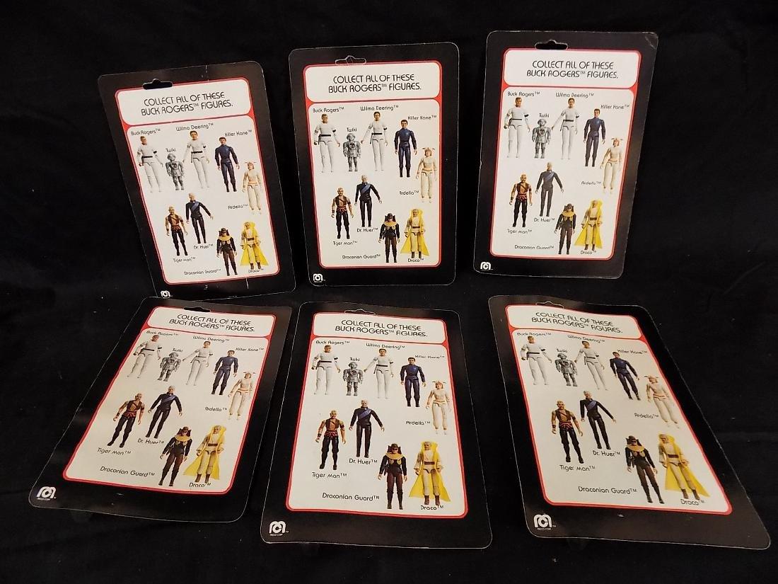 (6) Original 1979 Mego Buck Rogers Figures on Card - 2