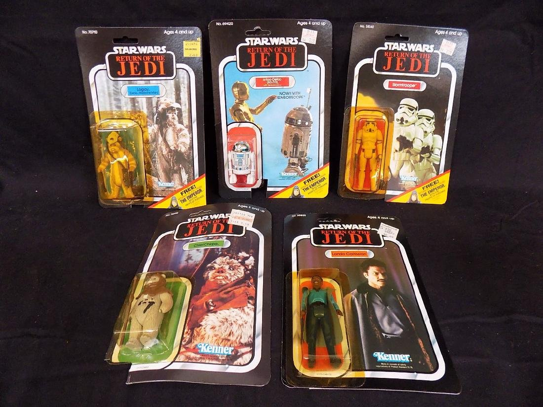 ORIGINAL (5) 1983 Star Wars Return of Jedi Figures