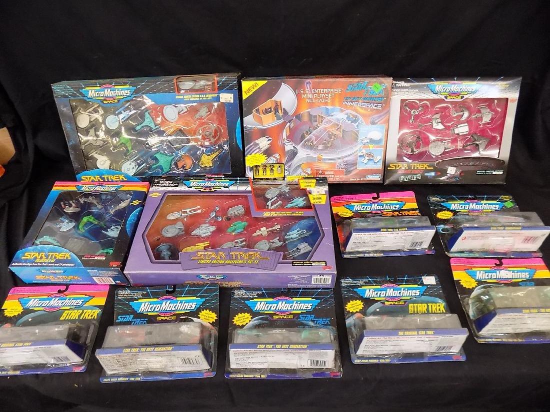1990's Star Trek Micro Machines Group of 12 Playsets