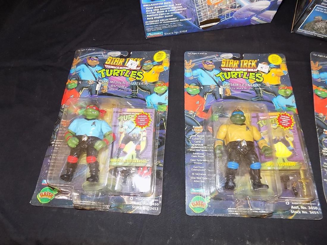 Star Trek Teenage Mutant Turtles Set + Two Borg Ships, - 2