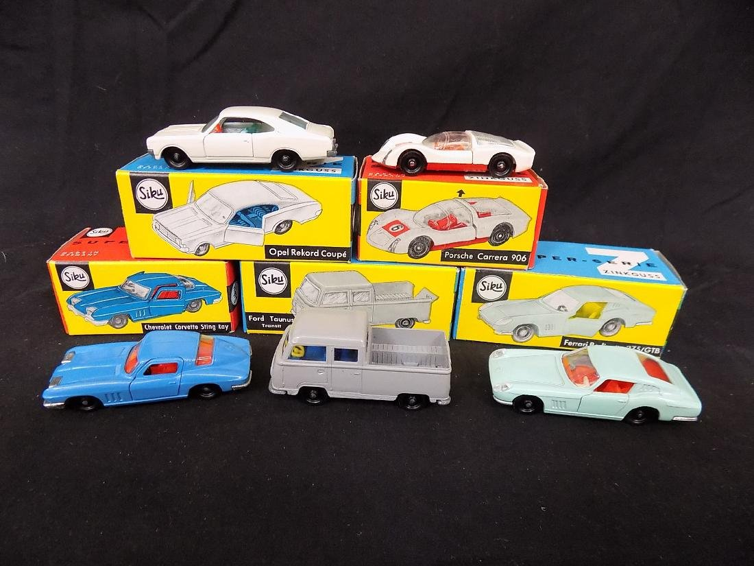 Siku NIB Car Lot (5) v271 Opel Rekord, v285 Porsche,