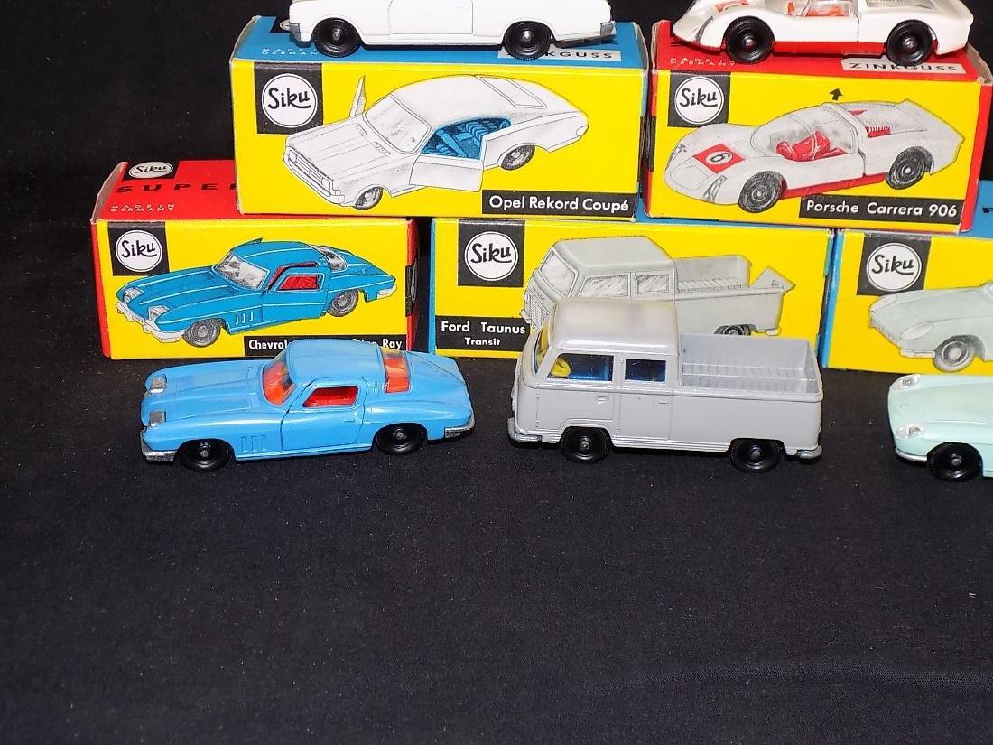 Siku NIB Car Lot (5) v271 Opel Rekord, v285 Porsche, - 2